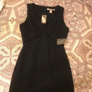 Black Undercarriage Slitted Dress